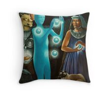 Initiation:11-11 -spiritual,fantasy oil painting Throw Pillow