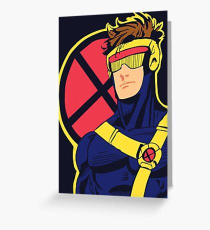 X-Men vintage Cyclops 1990s  Retro Greeting Card