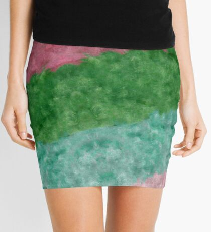 The muted colors of that 1970's hook rug Mini Skirt