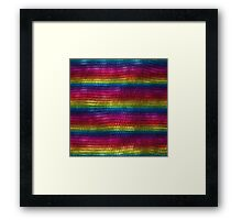 Rainbow Dragon Scales Framed Print