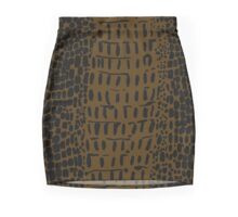 Alligator Skin Mini Skirt