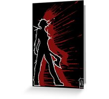 YGSS – Axe Vengeance Red Greeting Card