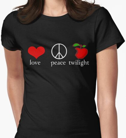 Love Peace Twilight T-Shirt Womens Fitted T-Shirt