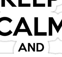 Keep Calm And Teach On Sticker