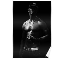 NY Physique - Black and White Poster