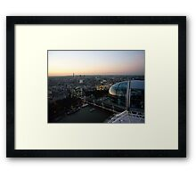 Sunset Eye Framed Print
