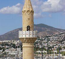 Bodrum Minaret & Harbour  by EileenFrith