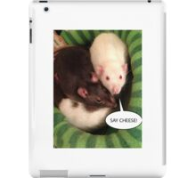 Rats Say Cheese! iPad Case/Skin