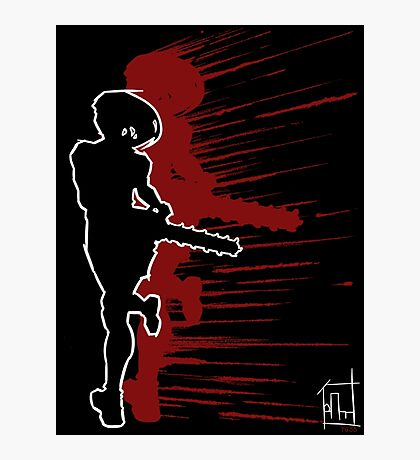 YGSS – Chainsaw Vengeance Red Photographic Print