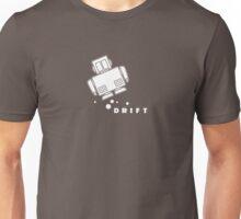 Coffee Bot Drift White Unisex T-Shirt