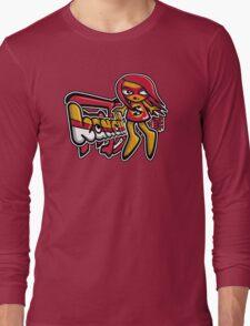 Sneaky Mascot Tag Long Sleeve T-Shirt