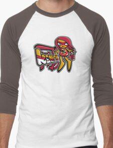 Sneaky Mascot Tag Men's Baseball ¾ T-Shirt