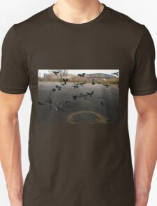 Pigeons Flight in Montreal Suburb. T-Shirt
