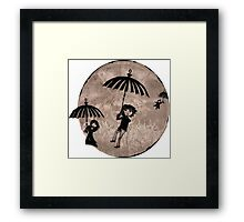 Baudelaire Umbrellas Framed Print