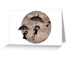 Baudelaire Umbrellas Greeting Card