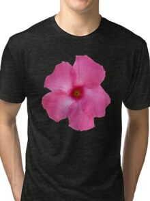 'Pink Mandevilla' Tri-blend T-Shirt
