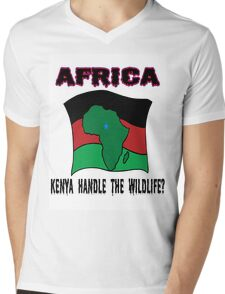 Kenya Wildlife Mens V-Neck T-Shirt