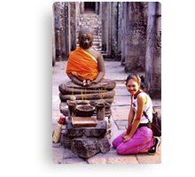 Smiling Buddhist Canvas Print