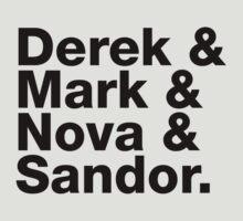 Derek & Mark & Nova & Sandor (Black) by sabird
