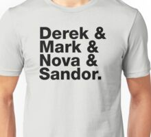 Derek & Mark & Nova & Sandor (Black) Unisex T-Shirt
