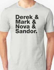 Derek & Mark & Nova & Sandor (Black) T-Shirt