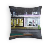 Vacant Shops Throw Pillow
