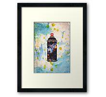 Spray Print Framed Print