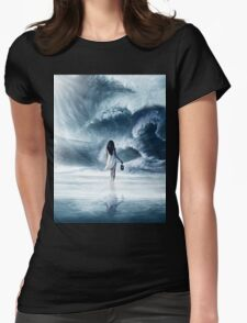 Ocean Wave Womens Fitted T-Shirt