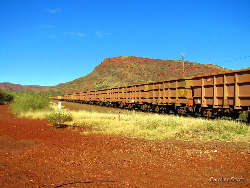 Iron Ore Train - Mt. Nameless Tom Price by Caroline Scott