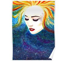 """""""Cosmic Mother"""" Watercolour  Poster"""