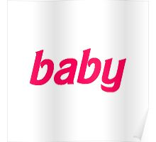 Baby Barbie Text Poster