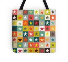 retro boxed stars Tote Bag