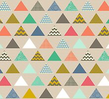 geo triangles by Sharon Turner