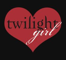 Twilight Girl Heart T-Shirt by fifilaroach