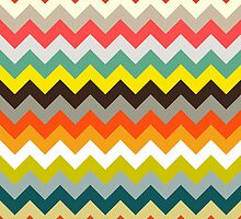 retro chevron by Sharon Turner