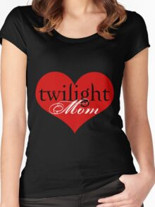 Twilight Mom Heart T-Shirt Women's Fitted Scoop T-Shirt