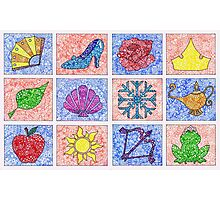 Disney Princess Logos Zentangle Photographic Print