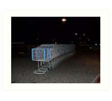 Shopping carts  Art Print