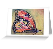 Monarch Butterfly with Colorful Wings Greeting Card