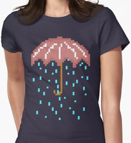 THE UMBRELLA REIGNS. Womens Fitted T-Shirt
