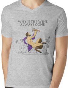 Why's the Wine Gone? Mens V-Neck T-Shirt