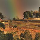 Rainbow on the Hill, Bridgetown, WA by Elaine Teague