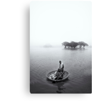Morning's catch Canvas Print