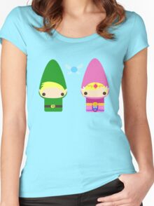 Gnome Link and Zelda Women's Fitted Scoop T-Shirt