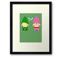 Gnome Link and Zelda Framed Print