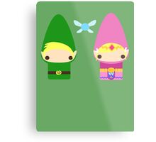 Gnome Link and Zelda Metal Print