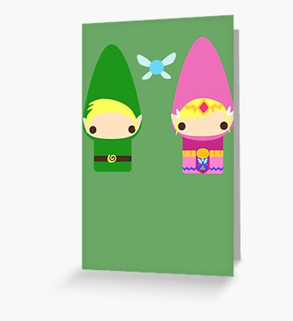 Gnome Link and Zelda Greeting Card