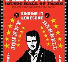 COUNTRY STAR JOHNNY DARRELL  PRINT POSTER by westox