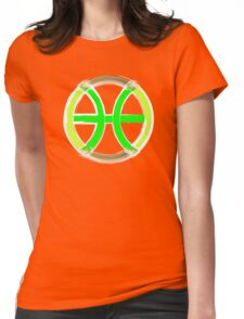 PISCIS SYMBOL GREEN Womens Fitted T-Shirt
