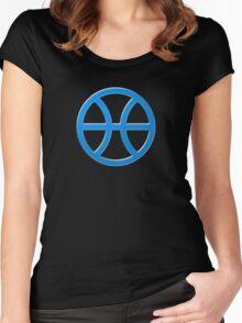 PISCIS SYMBOL BLUE Women's Fitted Scoop T-Shirt